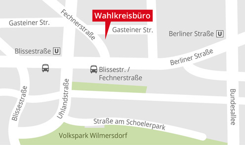 Standortkarte Wahlkreisbüro Franziska Becker (SPD)